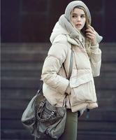 Retail women high quality winter jacket military dress free shipping in stock