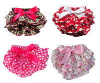 Cute Baby Girl Ruffle Panties Chiffon Pettiskirt TUTU style underwear the shorts for Wholesale kids Free Shippng