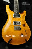 best china guitar electric guitar High Quality new style CUSTOM 24 SANTANA YELLOW Musical Instruments 100% Excellent Qualit