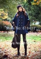 Autumn Fashion Women's Batwing Sleeve Cape Ponchos Jacket Outerwear Coat FREE SHIPPING