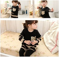 5 PCS/lot free shipping, wholesale, 2013 new autumn and winter children sequins pocket stripe long sleeve dresses of the girls