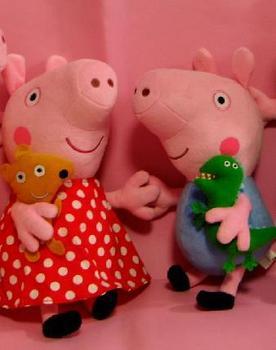12inch Plaid skirt Peppa pig toy toddler Plush doll George Pig plush dolls Christmas Gift Free Shipping