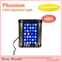 Phantom LED aquarium light 100W, remote controll dimming& timing, blue: whtie =1:1/ 2:1/ 1:2, for coal reef, customizable
