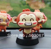 Free shipping New 2013 You giggle monkey shaking his head doll You giggle monkey spring doll Car ornaments decoration