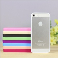2013 Case For Iphone 5 Full Transparent Acrylic Transparent TPU Phone Case 10 pcs/Lot Free Shipping