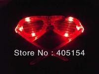 96pcs/lot LED Glasses light up shutter shades