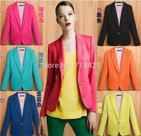 Plus size autumn female blazer outerwear 2013 women's suit slim spring and autumn long-sleeve suit a602