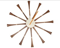 diy clock/Nelson spindle wall clock /modern fashion clock wholesale,free shipping