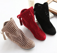 Free Shipping  Fashion women's cut-outs Boots , Spring and Summer short Boots , Inside High -heeled Shoes