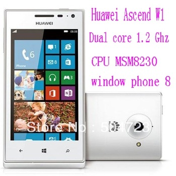 Free shipping 100% original Huawei Ascend W1 - Dual core 1.2 Ghz CPU MSM8230 2020mAh WP8 window phone