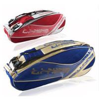 Red/Blue New 2013 brand designer 6 badminton rackets sports bag fashion badminton backpack gym bag, doubler shoulder bag BED 2