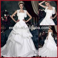 WDG1360 New Arrival White Famous Designer Wedding Dresses With Jacket Custom-size