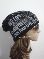 Wholesale 3Color New Popular COOL Fashion Unisex Hip-Hop Warm Beanie Cap Winter Women Baggys Men Skull Beanie