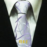 Hot Man Neckties For Men Fashion Popular Purple With Lilac Paisley Mens Novelty Ties 7CM F7-E-2