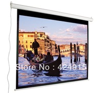 Free Shipping ! 72'' 4:3 front projection motorized screen,electric screen for home use