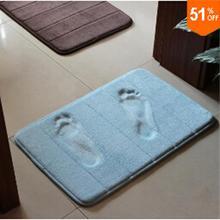 Slow rebound memory foam mats waste-absorbing slip-resistant bath mat coral fleece mat doormat carpet 2(China (Mainland))