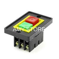 6-Pin SPST 2-Phase I/O Self Locking Electromagnetic Switch Black AC 380V 2KW