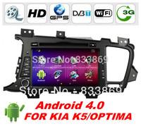 "2 Din Android 4.0 8 ""head unit car dvd gps navi for KIA K5 /Optima 2011-2012 1G RAM 4G Nand Flash CPU: A10 1GHZ free WIFI dongle"