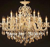 Modern Art Deco K9 Crystal Chandelier Living Room Lamp D920mm H820mm 18 Lights