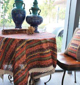 Fluid rectangle table cloth 1.4m 1.8m 2.2m bohemia dining table cloth round table cloth