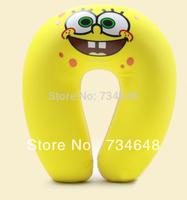 Comfort Foam Particles U Neck Travel Pillow Cute Cartoon Pattern - SpongeBob