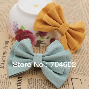 Top Quality Baby Girls Fabric Hair Bow DIY Hair Accessories 40pcs/lot Free Shipping BOW14