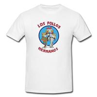 New 100% Cotton Breaking Bad Los Pollos Los Pollos Hermanos Mens Scoop Neck T-Shirt at Our Shop