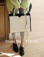 South Korea imported genuine white big bag handbag new spring and summer candy colored cherryspoon bag,free shipping,PG007