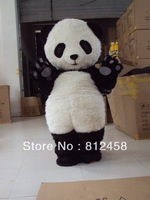 Plush Panda Mascot Costume Festival Costumes Adult Size Fancy Dress Suit Free Shipping