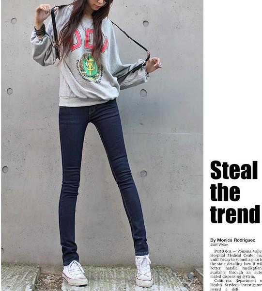 2015 women spring female elastic skinny pants solid color pencil pants casual pants legging jeans(China (Mainland))