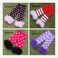 Kids lace Leg Warmer new 2013 Fashion dots Print leg warmers/Stockings 10 pairs lot KP2038