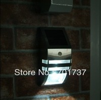Free shipping!1pcs LED solar wall light Mono crystalline silicon 0.4W