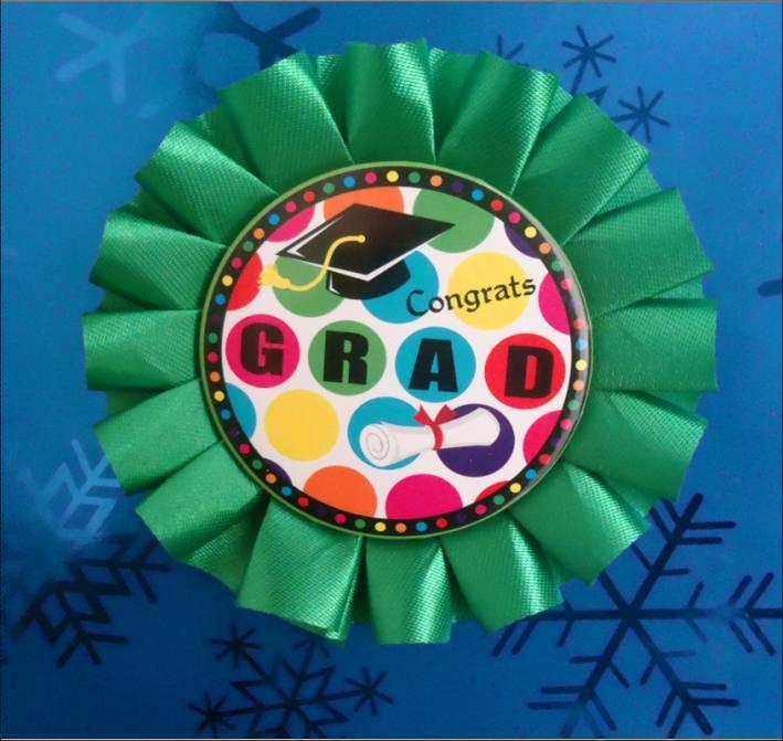 Green GRAD bedge Birthday Christmas Wedding graduation PARTY products(China (Mainland))