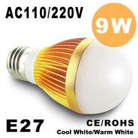 2pcs/lot Dimmable Bubble Ball Bulb 9w 15W  E27 GU10 E14 B22 Ball Steep light Globe light LED Light Bulbs Lamp Lighting