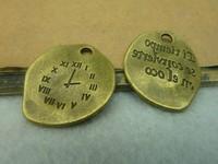 20pcs antique bronze Irregular Roman Clock alloy charms bracelet necklace pendant diy phone cabochon jewelry finding accessories