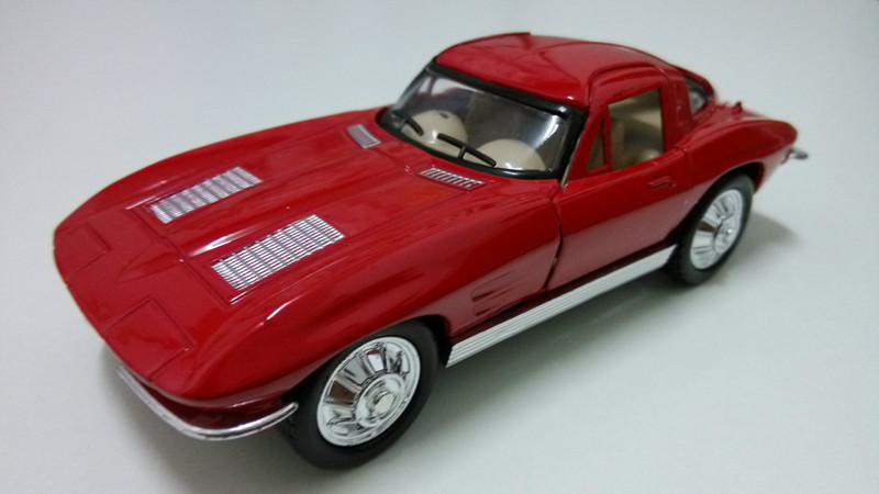 classic car 1964 chevrolet corvette toys for boys model HJC8011 red color antique cars for kids(China (Mainland))