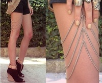 Min order is 10 USD,Exclusive custom European style chain necklace body chain legs rammed promotional goods