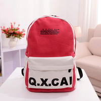 2013 women's handbag preppy style backpack casual canvas bag school bag wholsale