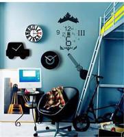Free shipping Home Wall Art Decoration Modern Car Design Silence Acrylic quartz Wall Clock Retail