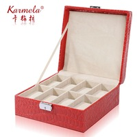 Jewelry storage box wool plaid dressing box cosmetics watch storage box bracelet box