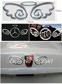 Free shipping 3D Devil Angel Wing Decal Sticker Car Emblem For Benz Mercedes Buick Roewe VW  Nissan Toyota Ford Mazda