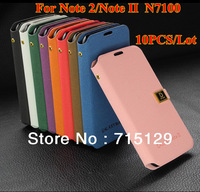 10PCS/Lot New Leather Mobile Case Cover For Samsung N7100 For Galaxy Note 2 II Flip Protector Holder Free Shipping Wholsaler