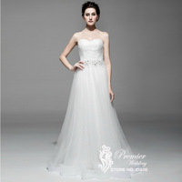 New Arrival Actual Pictures Strapless Sweetheart Detachable First Layer Crystal Beaded Corset Lace Up A line Wedding Gown