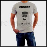 Free shipping BREAKING BAD Heisenberg POSTER top lycra cotton short sleeve T-shirt Fashion Brand men t shirt new high quality