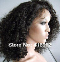 free shipping quality long heavy human hair  lace  Wig curly 100% Indian Remy Human hair Lace Front Wigs / cap