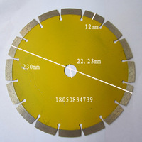 230mm segment dry cutting disc for granite cutting stone processing