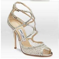 2013 spring open toe sandals princess shoes high-heeled shoes sexy bridal shoes rhinestone wedding shoes