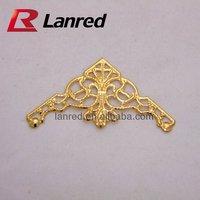 Free shipping 100pcs 35x35x45MM  Gold Decroative Corner for Scrapbooking decoration