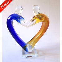 Fashion abstract glass crafts home decoration personalized decorations wedding gift