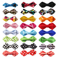 Fashion Children safety pin bow tie formal dress candy color Pointed bow tie baby leopard print solid color Children Accessories